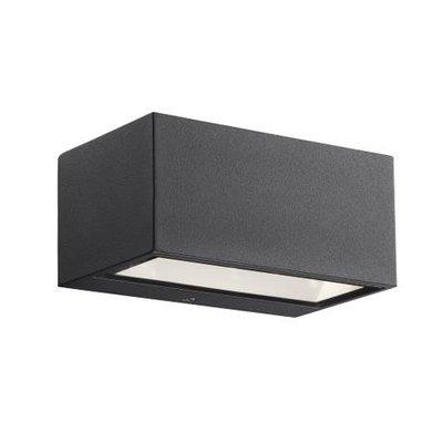 LED Wandlamp Buiten Zwart - 6W LED  IP54 -Nene