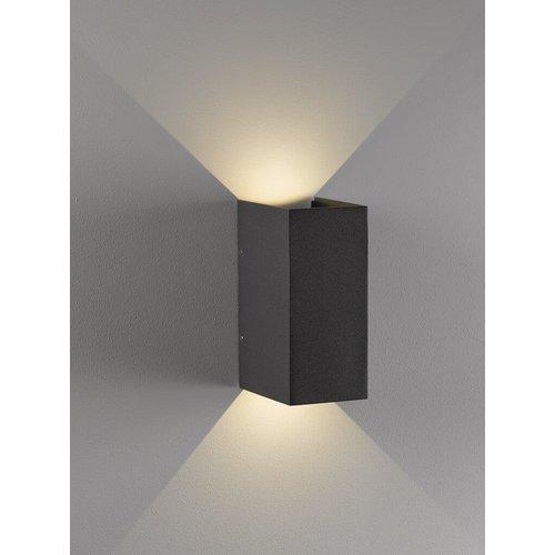 Nordlux LED Wandlamp Buiten Tweezijdig Zwart - 3W LED  IP54 -Norma