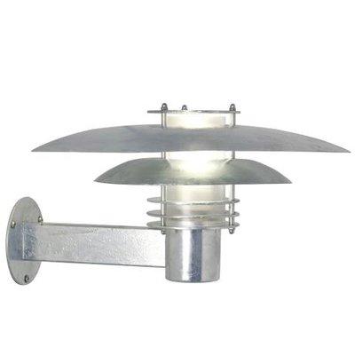 Wandlamp Buiten Verzinkt - E27 Fitting  IP54 -Phoenix