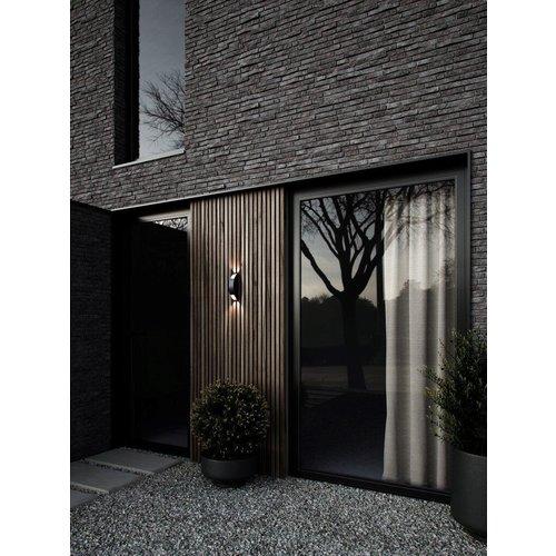 Nordlux LED Wandlamp Buiten Zwart -  10W LED IP54 -Pignia