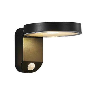 LED Wandlamp Buiten Zwart Solar - 5W LED - Rica Round