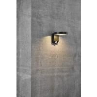 Nordlux LED Wandlamp Buiten Zwart Solar - 5W LED - Rica Round