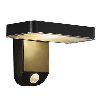 LED Wandlamp Buiten Zwart Solar - 5W LED - Rica Square