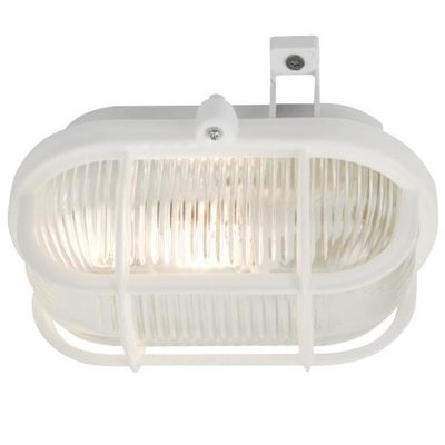 Wandlamp Buiten Wit - E27 Fitting - IP44 - Skot