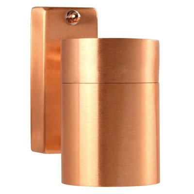 Wandlamp Buiten Koper - GU10 Fitting - IP54 - Tin
