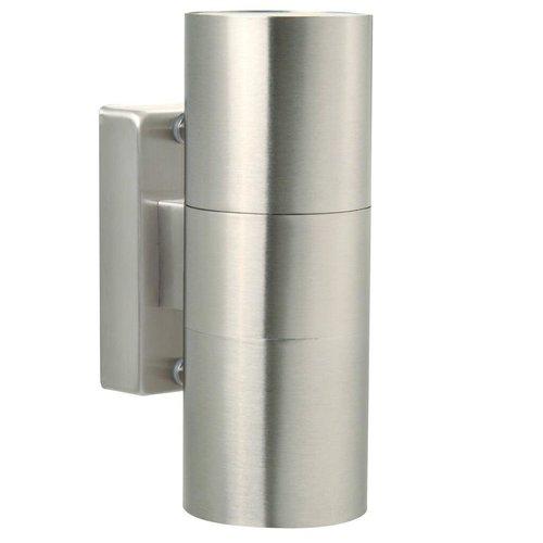 Nordlux Wandlamp Buiten Tweezijdig Roestvrijstaal - GU10 Fitting - IP54 - Tin