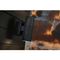 Nordlux Wandlamp Buiten Tweezijdig Zwart - GU10 Fitting IP54 - Tin