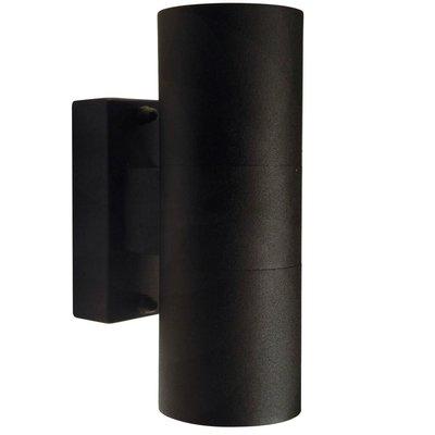 Wandlamp Buiten Tweezijdig Zwart - GU10 Fitting - IP54 - Tin