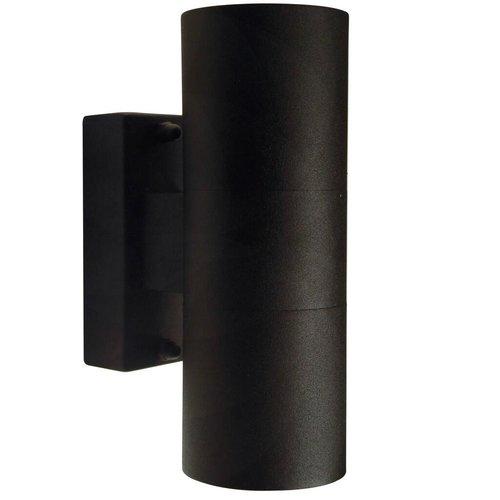 Nordlux Wandlamp Buiten Tweezijdig Zwart - GU10 Fitting - IP54 - Tin