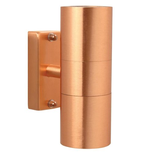 Nordlux Wandlamp Buiten Tweezijdig Koper - GU10 Fitting - IP54 - Tin