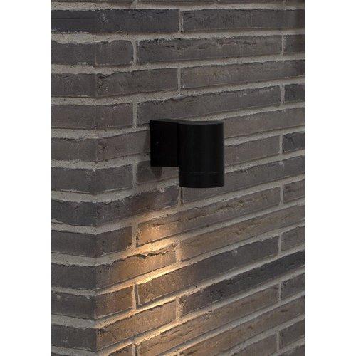 Nordlux Wandlamp Buiten Zwart - GU10 Fitting - IP54 - Tin Maxi