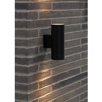 Nordlux Wandlamp Buiten Tweezijdig Zwart - GU10 Fitting - IP54 - Tin Maxi