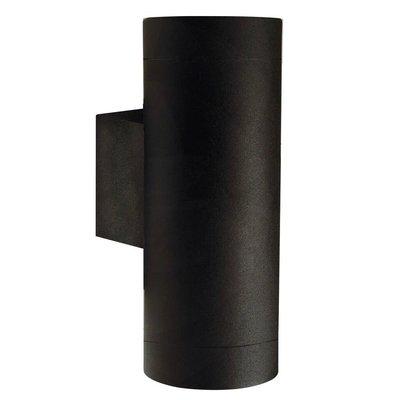 Wandlamp Buiten Tweezijdig Zwart - GU10 Fitting - IP54 - Tin Maxi
