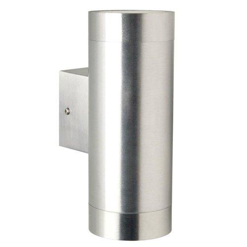 Nordlux Wandlamp Buiten Tweezijdig - Aluminium - GU10 Fitting - IP54 - Tin Maxi