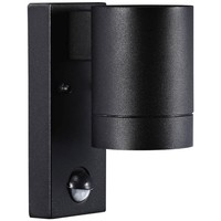 Nordlux Wandlamp Buiten Eenzijdig - Zwart - GU10 Fitting - IP54 - Tin Maxi Sensor