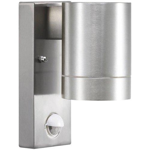 Nordlux Wandlamp Buiten Aluminium Sensor - GU10 Fitting IP54 - Tin Maxi Sensor