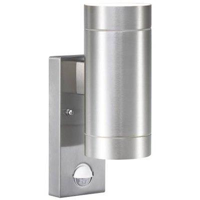 Wandlamp Buiten Tweezijdig - Aluminium - GU10 Fitting - IP54 - Tin Maxi Sensor