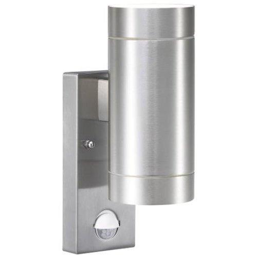 Nordlux Wandlamp Buiten Tweezijdig - Aluminium - GU10 Fitting - IP54 - Tin Maxi Sensor