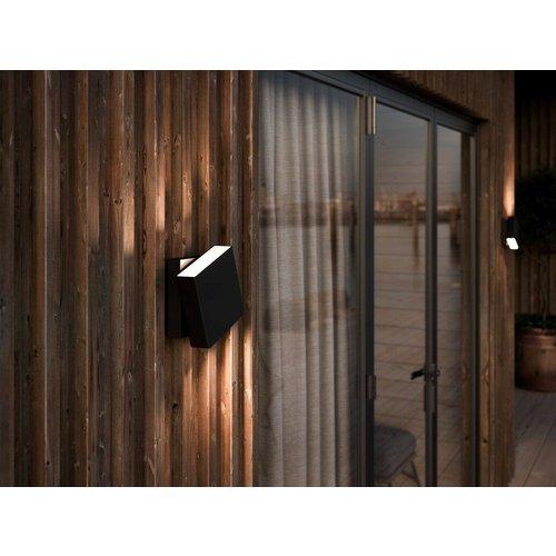 Nordlux Wandlamp Buiten Zwart - 2700k  - IP54 - 13W LED - Turn