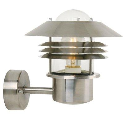 Wandlamp Buiten Roestvrijstaal - E27 Fitting - IP54 - Vejers