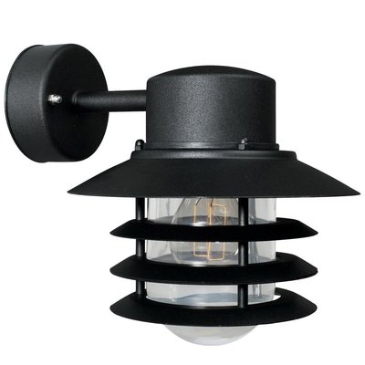 Wandlamp Buiten Zwart - E27 Fitting - IP54 - Vejers Down