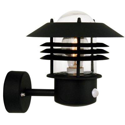 Wandlamp Buiten Sensor Zwart - E27 Fitting - IP54 - Vejers Sensor