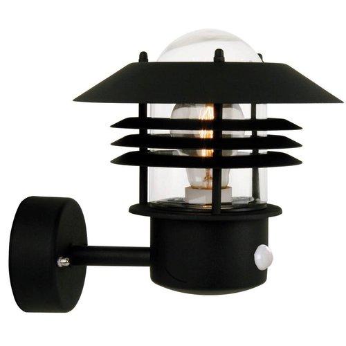 Nordlux Wandlamp Buiten Sensor Zwart - E27 Fitting - IP54 - Vejers Sensor