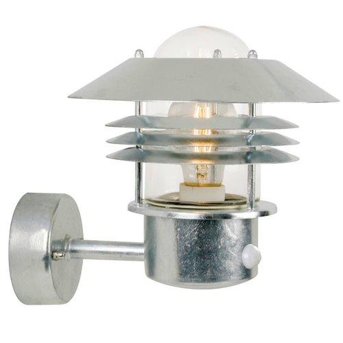 Nordlux Wandlamp Buiten Sensor Gegalvaniserd - E27 Fitting - IP54 - Vejers Sensor