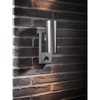 Nordlux Wandlamp Buiten Tweezijdig - Roestvrij Staal - GU10 Fitting - IP54 - Tin Maxi Sensor