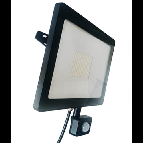 Lightexpert LED Breedstraler met Sensor 10W - 800 Lumen - 6500K