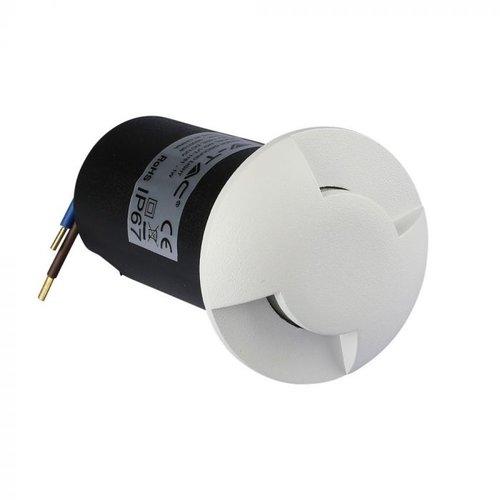 Lightexpert Grondspot 12V - Wit - 1W - 10 Lumen - IP67 - 2 Lichts