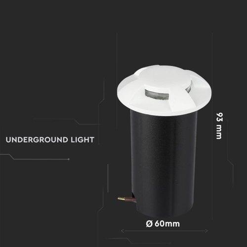 Lightexpert Grondspot 12V - Wit - 1W - 10 Lumen - IP67 - 4 Lichts