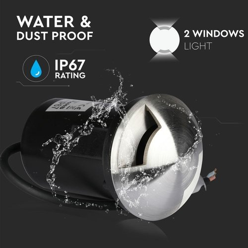 Lightexpert RVS Grondspot 12V - MR16 - IP67 - 2 Lichts