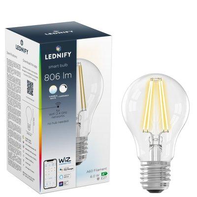 LEDNIFY WiZ Connected Smart LED Filament Standard Clear - E27 - 6W - 806LM - 2200-5500K