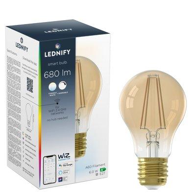 LEDNIFY WiZ Connected Smart LED Filament Standard Amber - E27 - 6W - 680LM - 2200-4000K