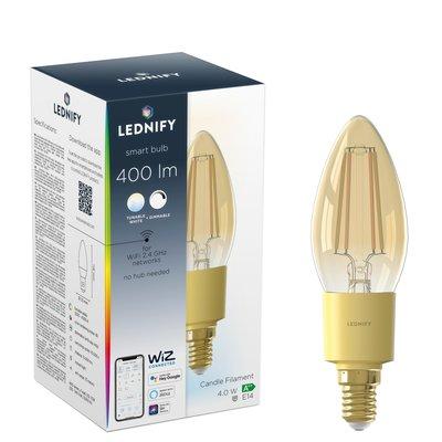 LEDNIFY WiZ Connected Smart LED Filament Candle Amber - E14 - 4W - 400LM - 2200-4000K
