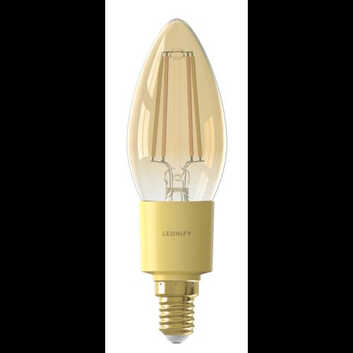 Lednify LEDNIFY WiZ Connected Smart LED Filament Candle Amber - E14 - 4W - 400LM - 2200-4000K