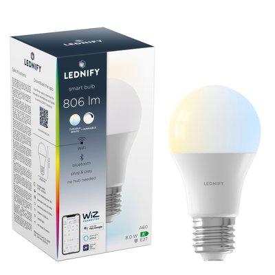 LEDNIFY WiZ Connected Smart LED Standard - E27 - 8W - 806LM - 2700-6500K