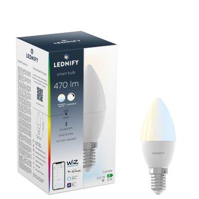 LEDNIFY WiZ Connected Smart LED Candle - E14 - 5W - 470LM - 2700-6500K