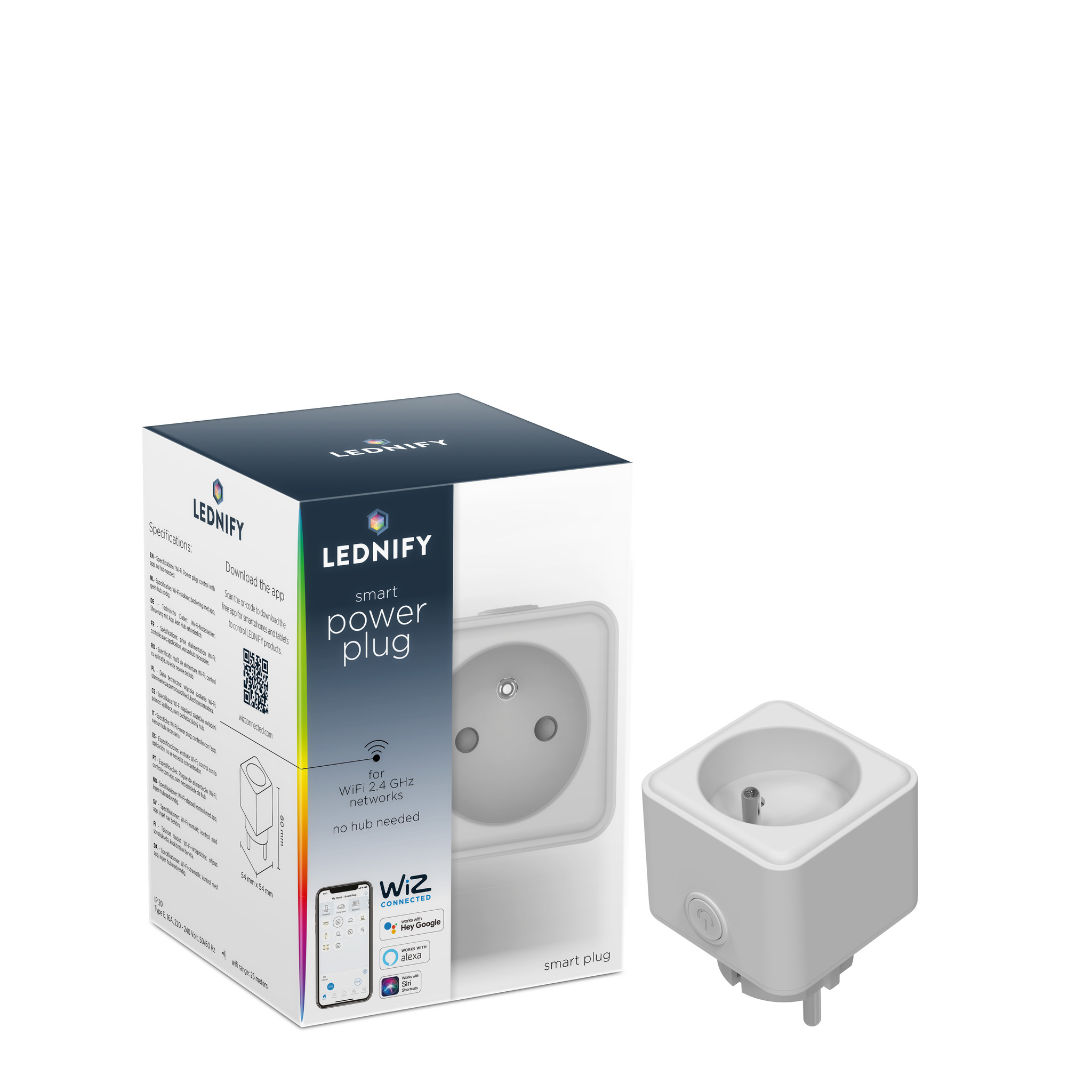 LEDNIFY WiZ Connected Smart Powerplug BE/FR plus 16A