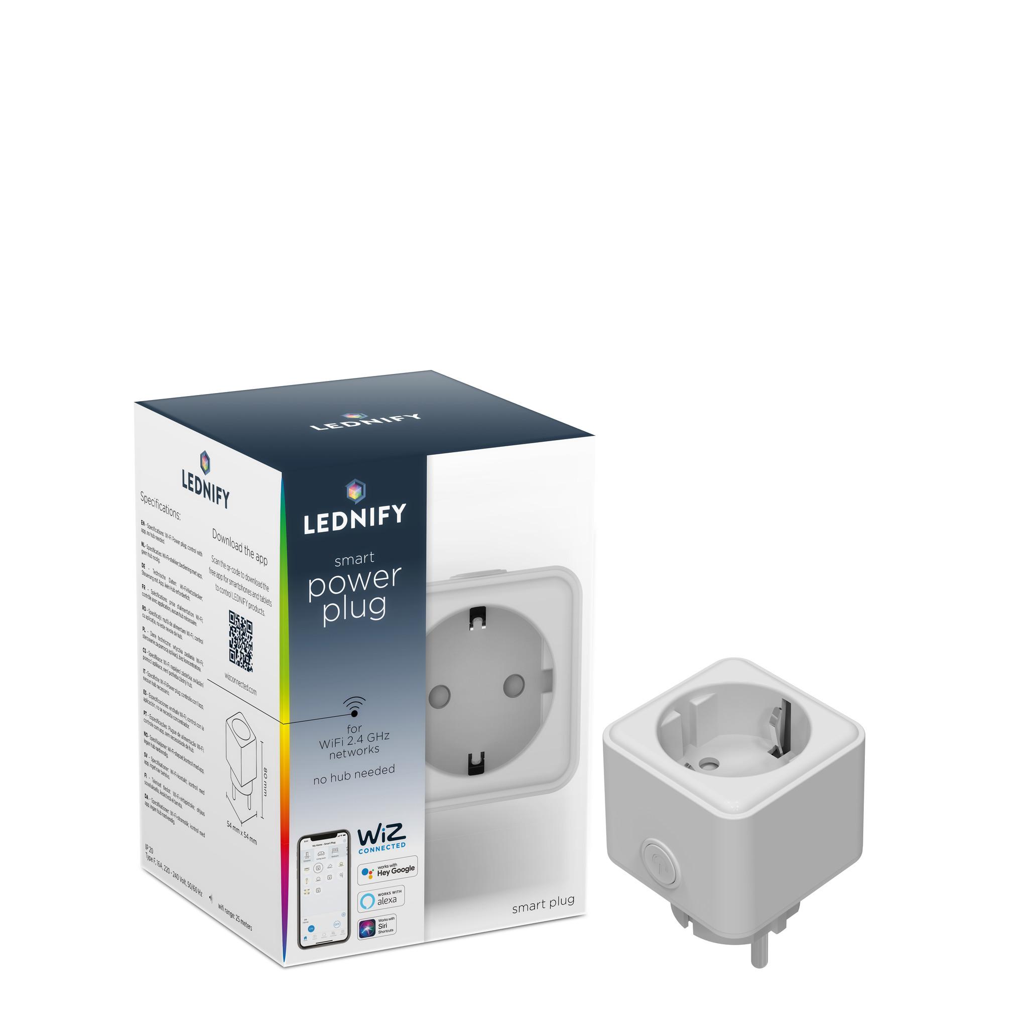 LEDNIFY WiZ Connected Smart Powerplug EU plus 16A