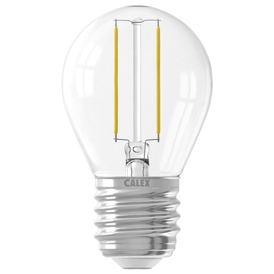 15 Pack - Calex Spherical LED Lamp Filament - E27 - 200 Lm - Zilver