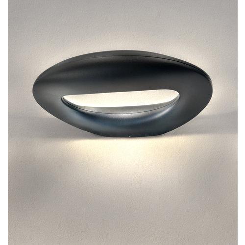Lightexpert LED Wandlamp Buiten Zwart - 3000K - 10W - IP65 - 1100 Lumen
