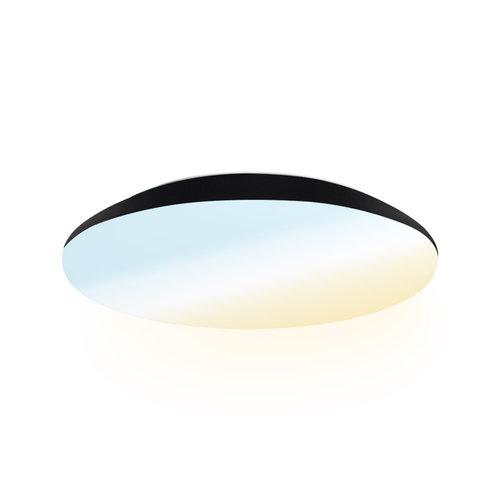 Lightexpert LED Plafondlamp - 1200 Lumen  - IP65 - 12W - Lichtkleur instelbaar - Zwart