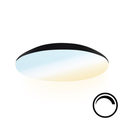 Lightexpert LED Plafondlamp - Dimbaar- 1200 Lumen  - IP65 - 12W - Lichtkleur instelbaar - Zwart