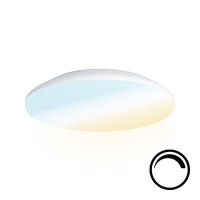 LED Plafondlamp - Dimbaar- 1200 Lumen  - IP65 - 12W - Lichtkleur instelbaar - Wit
