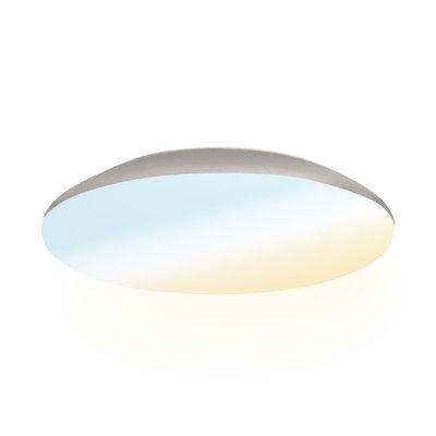 LED Plafondlamp - 1900 Lumen  -  IP65 - 18W - Lichtkleur instelbaar - Chroom