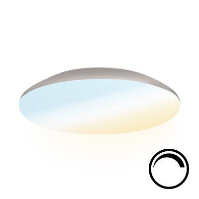LED Plafondlamp - Dimbaar - 1900 Lumen  -  IP65 - 18W - Lichtkleur instelbaar - Chroom