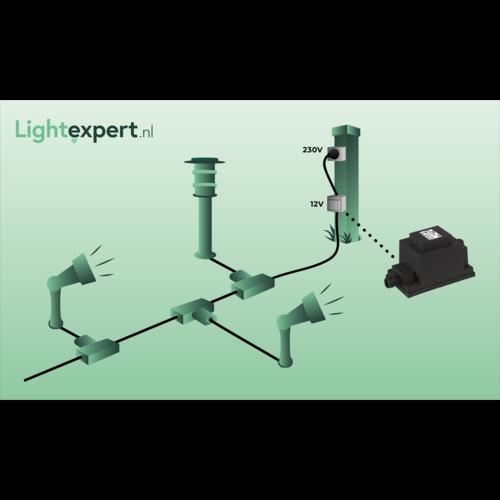 Garden Lights Grondspot Buiten LED -  Larch set van 3 st. - 12V - 1W