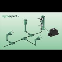 Garden Lights Wandlamp Buiten LED - Gilvus Zwart - 12V - 4W
